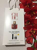Аромат женский Carolina Herrera C.H. Women 3*15мл в сумочке