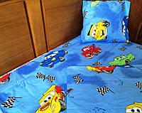Детский комплект постельного белья в кроватку Тачки Макквин