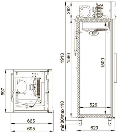 Универсальный шкаф-нерж Polair CV105-G, фото 2
