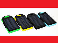 Солнечное зарядное устройство Power Bank 45000 mAh + LED фонарик, фото 1
