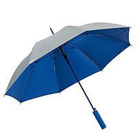 Синий зонт-трость, автоматический, рекламный, качественный, под нанесение логотипов