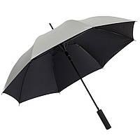 Чёрный зонт-трость, автоматический, рекламный, качественный, под нанесение логотипов