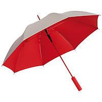 Красный зонт-трость, автоматический, рекламный, качественный, под нанесение логотипов