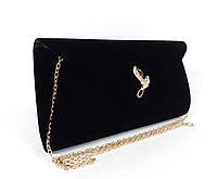Вечерний велюровый клатч черный, сумочка Rose Heart 103170, расцветки