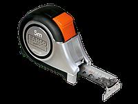 Рулетка 5 м нержавейка, метрика/дюйм с магнитным наконечником MTS-5-25 - Bahco (Швеция)