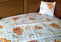 Детский комплект постельного белья в кроватку Мишка Тедди
