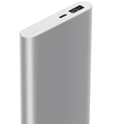 Внешний аккумулятор Xiaomi Mi Metal Power Bank 2 10000 mAh серебро, фото 2