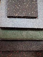 Гумове покриття для спортзалу 15мм 1 лист чорний