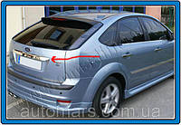Накладка над номером на крышку багажника Ford Focus 2 (2008+) HB