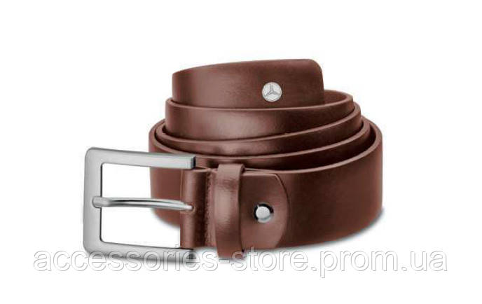 Мужской кожаный ремень Mercedes-Benz Men's Belt, Business, Brown, Calfskin