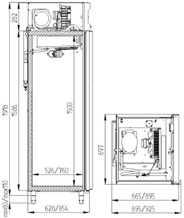 Холодильный шкаф Polair CV107-G, фото 2