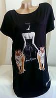 Модная футболка-туника на  лето