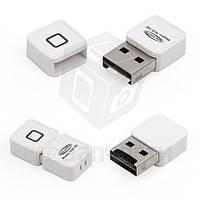 Кард-ридер, micro CD для USB, белый, #ACR-106