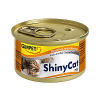Консервы Gimpet ShinyCat Tuna & Chicken для кошек с тунцом и курицей, 70 г