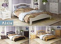 Кровать двуспальная Лилия Kempas