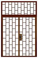 Двери тамбурные двустворчатые с фрамугой