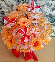 Букет из конфет  Абрикосовая нежность