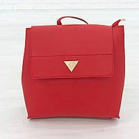 Рюкзак из искусственной кожи красный (К-308-2), фото 1