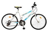 """ХВЗ Велосипед подростковый 24"""" TEENAGER модель 47 SH бело-голубой"""