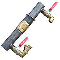 Байпас для систем отопления и циркуляционного насоса (короткий с обратным клапаном) Ду 40