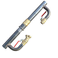 Байпас для систем отопления и циркуляционного насоса (Длинный с обратным клапаном) Ду 40