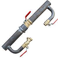 Байпас для систем отопления и циркуляционного насоса (Длинный с краном) Ду 50