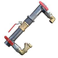 Байпас для систем отопления и циркуляционного насоса (Короткий с краном) Ду 40