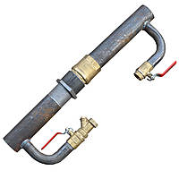 Байпас для систем отопления и циркуляционного насоса (Длинный с обратным клапаном) Ду 50