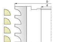 Фреза для изготовления оконного штапика  М 005