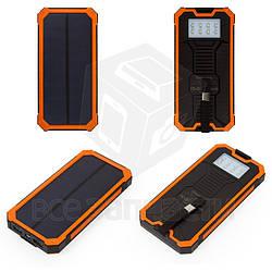Power bank Bilitong SPB01, 10000 мАч, USB-выход 5В 1A/2A, С солнечной панелью