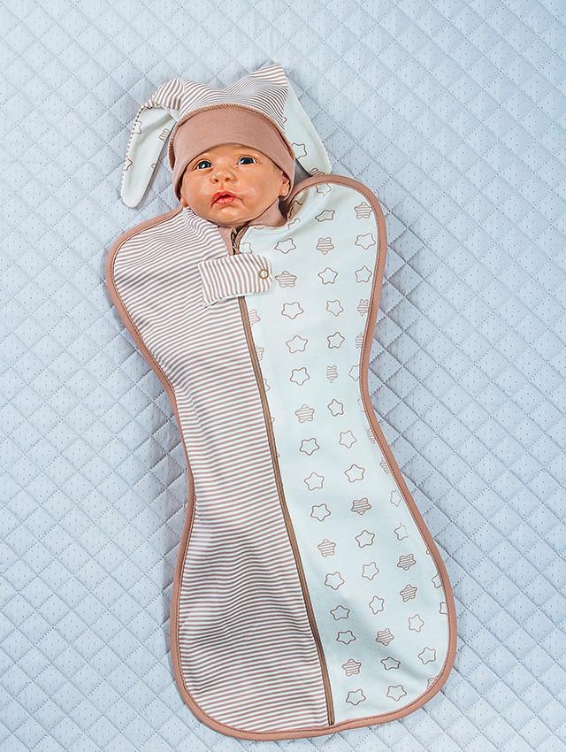 """Евро пеленка для новорожденных """"Стиляжки"""", молочный"""