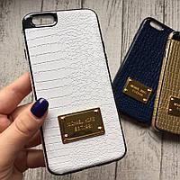 Силиконовый белый чехол Michael Kors для iPhone 6/6s