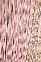 Шторы нити дождь №5 розовые