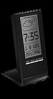 Цифровой термогигрометр с часами Т-14 Стеклоприбор черный