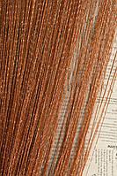 Шторы нити дождь №10 коричневые
