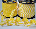 Косая бейка из хлопка с жёлтой полоской 5 мм , фото 2