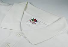 Мужское Поло Премиум Fruit of the loom Белое 63-218-30 S, фото 2
