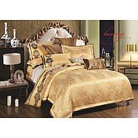 Элитный комлект постельного белья сатин жаккард Tiare евро 1611