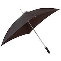 Зонт с квадратным куполом черного цвета, под нанесение логотипов