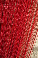 Шторы нити дождь №17 красные