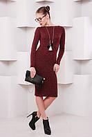 Платье-чулок Агата р.42-48 бордовый
