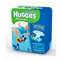 Подгузники Huggies Ultra Comfort для Мальчиков 3 (5-9 кг) 21 шт.
