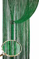 Шторы нити дождь №211 зелёные