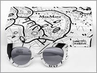 «Поток сознания» перетек с рисунка художницы на новые очки Max Mara