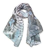 Мягкий шарф Каприз, голубой
