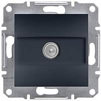 Розетка ТВ проходная  Schneider-Electric Asfora EPH3200271 антрацит
