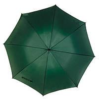 Ветроустойчивый зонт-трость зеленого цвета, под нанесение логотипов, рекламный