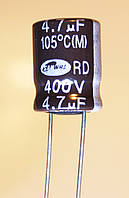 4,7мкф-400v (105°C) <RD> 10*14  SAMWHA