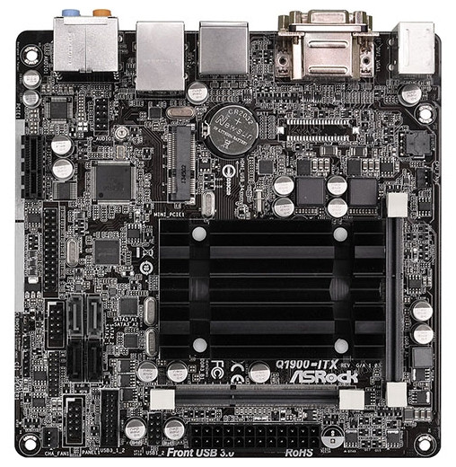 """Материнская плата ASRock Q1900-ITX SODIMM DDR3 """"Over-Stock"""""""