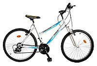 """ХВЗ Велосипед подростковый  24"""" TEENAGER модель 47 BA SH бело-голубой"""
